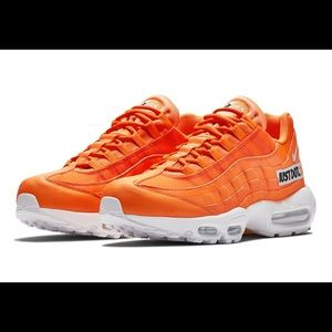 Nike Shoes Airmax 95 Just Do It Neon Orange Sneakers Poshmark